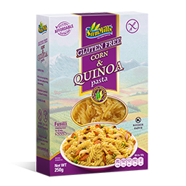 Sam Mills Фузилли без глютена с киноа (Corn and quinoa Fusilli) 250г.