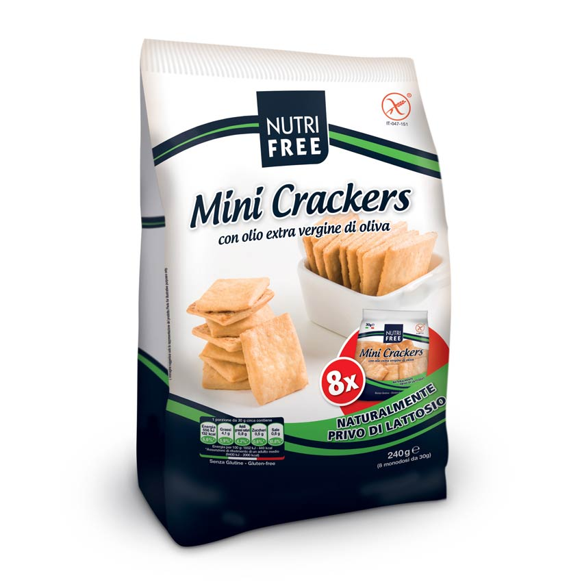 Nutri Free Мини крекеры без лактозы (Mini Crackers) 240г.